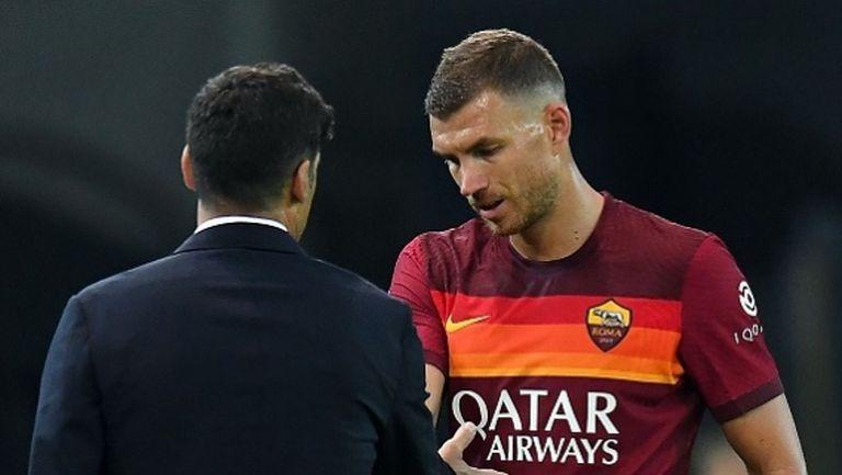 Джеко се срещна с Фонсека, бъдещето му в Рома остава неясно