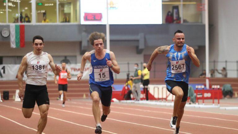 Пета титла на 60 метра за Денис Димитров (видео)