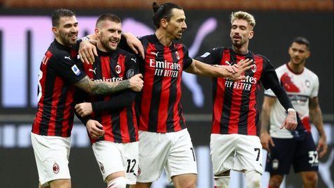Милан разгроми последния, а Златан влезе в клуб 500 (видео)