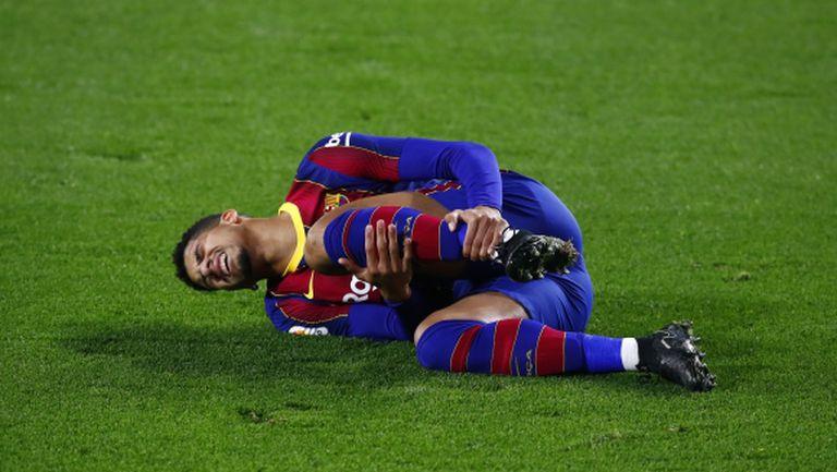 Защитник на Барселона пропуска следващия месец