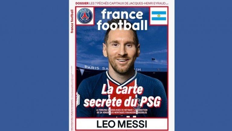 """""""Франс Футбол"""" побърза да облече Меси в екипа на ПСЖ"""