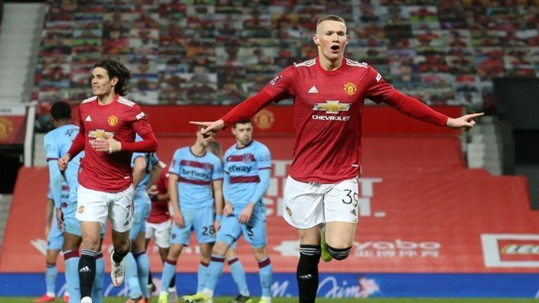 Продължения изпратиха неособено убедителен Манчестър Юнайтед на 1/4-финал за ФА Къп (видео)