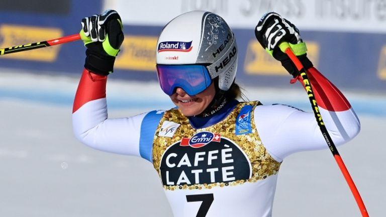 Край на словенската доминация в женското спускане на СП по ски