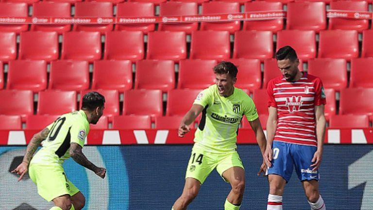 Късметлийски гол донесе нова победа на устремения към титлата Атлетико Мадрид (видео)