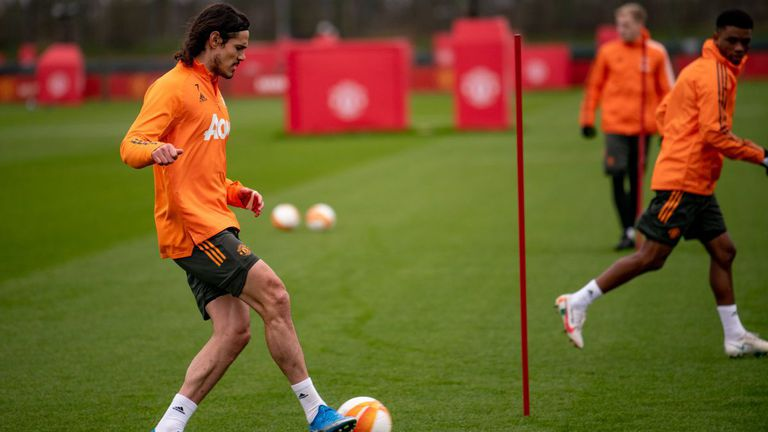 Част от контузените звезди на Ман Юнайтед тренираха с отбора преди мача с Милан