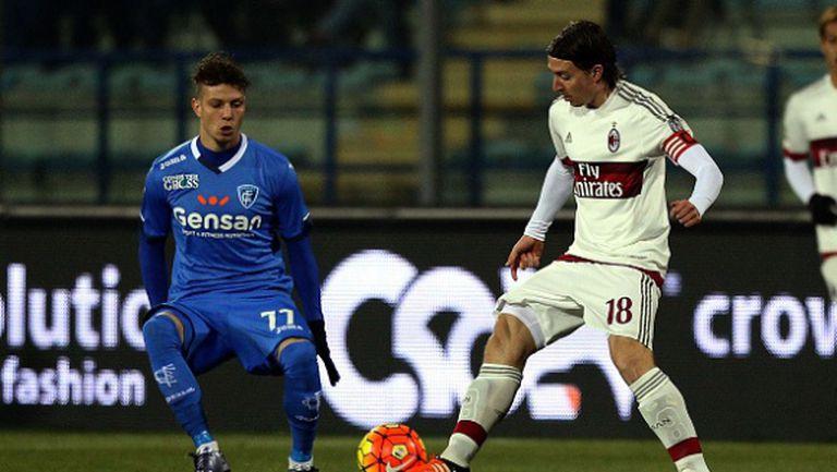 Милан на два пъти повеждаше, но се размина с победата (видео)