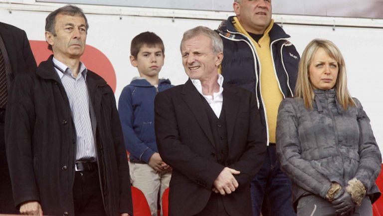 Гриша Ганчев за пръв път на мач на ЦСКА