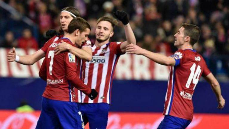 Атлетико Мадрид поддържа интригата в Примера с класика (видео)