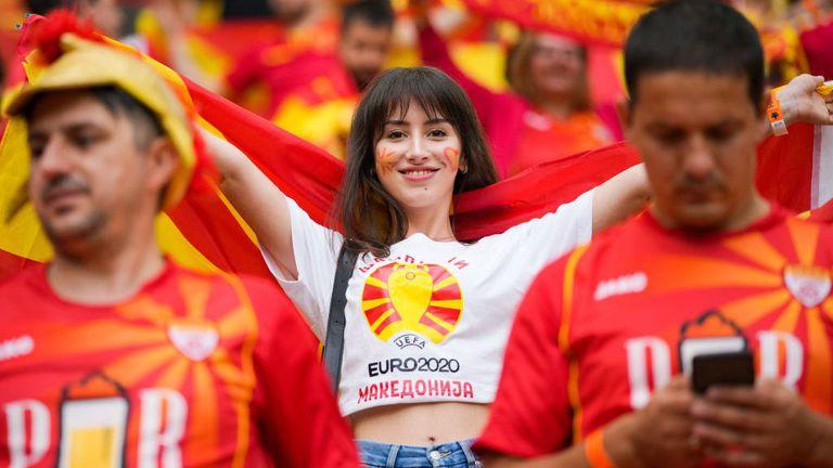 Красота и колорит на мача Украйна - Северна Македония