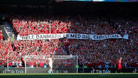 Аплаузи за Ериксен прекратиха Дания - Белгия