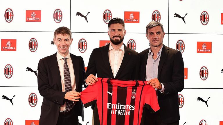 Жиру вече официално е футболист на Милан