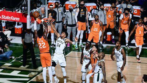 Финикс и Милуоки подновяват борбата си за титлата в НБА