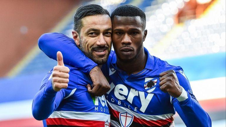 Куалярела зарадва Сампдория срещу Фиорентина (видео)