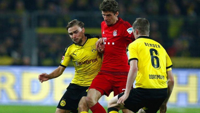 0:0 за Байерн в дербито на Бундеслигата (видео + галерия)