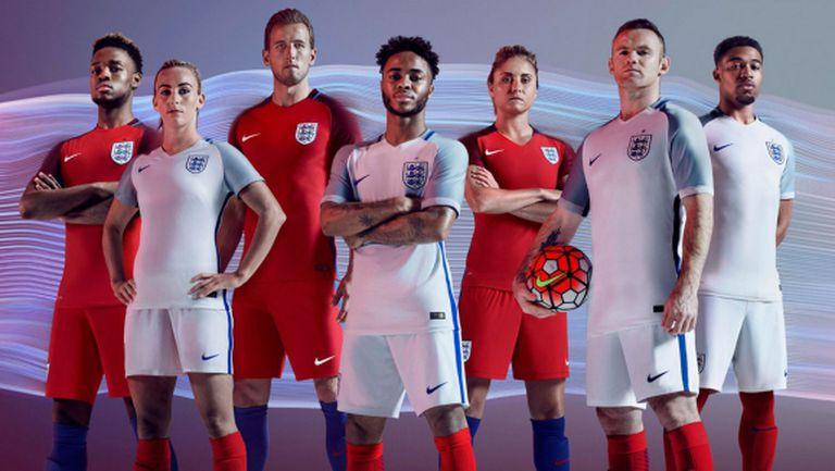 Англия представи екипите за Евро 2016