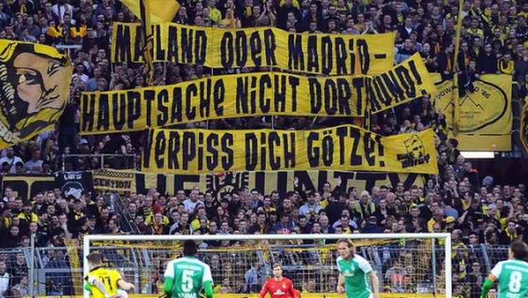 Ултрасите на Борусия предупредиха Гьотце какво го очаква