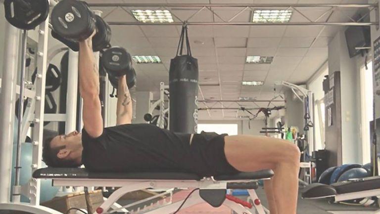 Бербо тренира здраво във фитнеса (СНИМКИ)