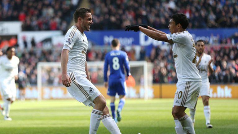 Суонзи сложи край на серията на Хидинк с историческа победа над Челси (видео)