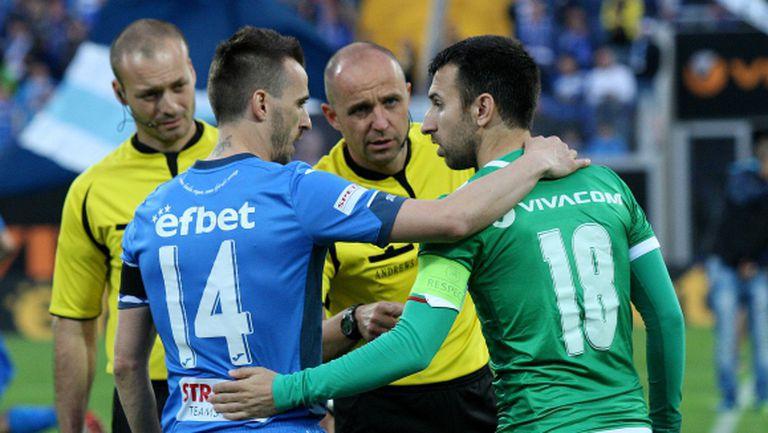 Левски спря серията на Лудогорец в разочароващ мач без победител (видео)