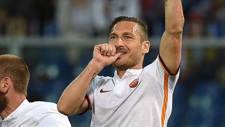 Рома превзе Генуа, Тоти отново герой (видео)