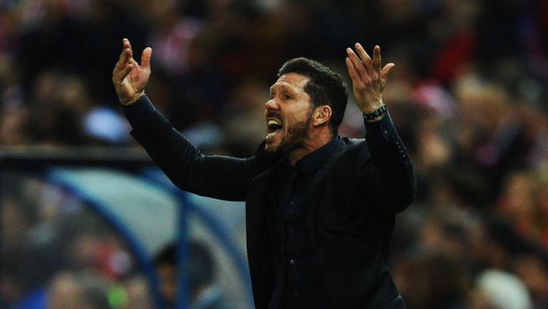 Диего Симеоне е горд от представянето на Атлетико (Мадрид)