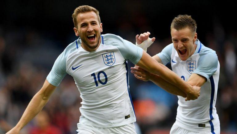 Варди и Кейн зарадваха Англия в първата контрола преди Евро 2016 (видео)