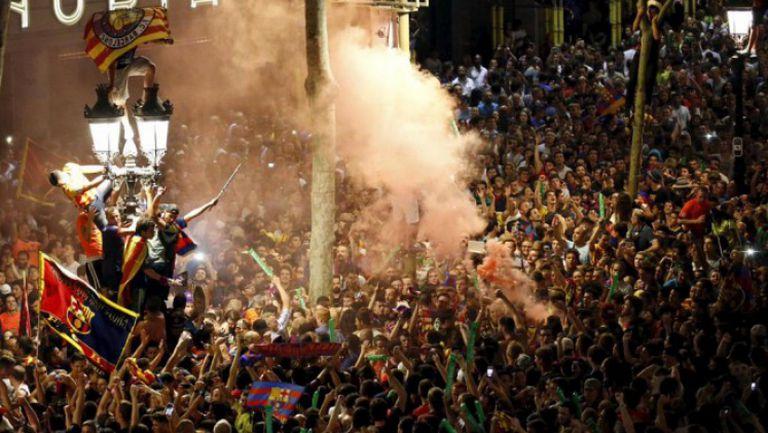 Над 30 хиляди с луда фиеста в Барселона