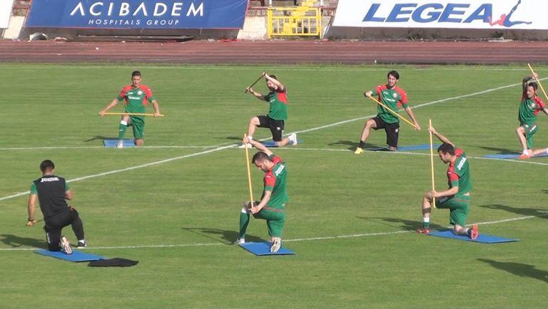 Георги Миланов тренира пълноценно с националите преди заминаването за Малта