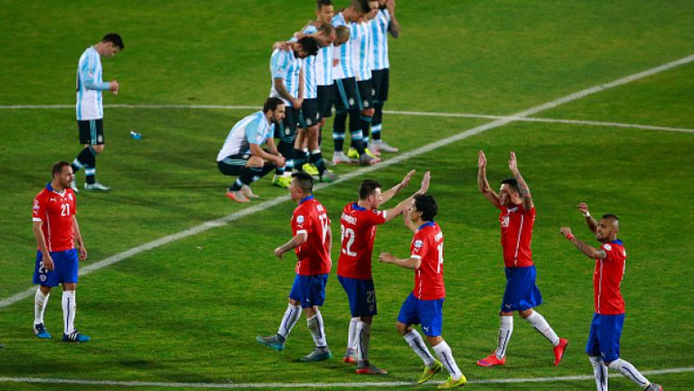 Чили - Аржентина 0:0 (4:1 след дузпи)