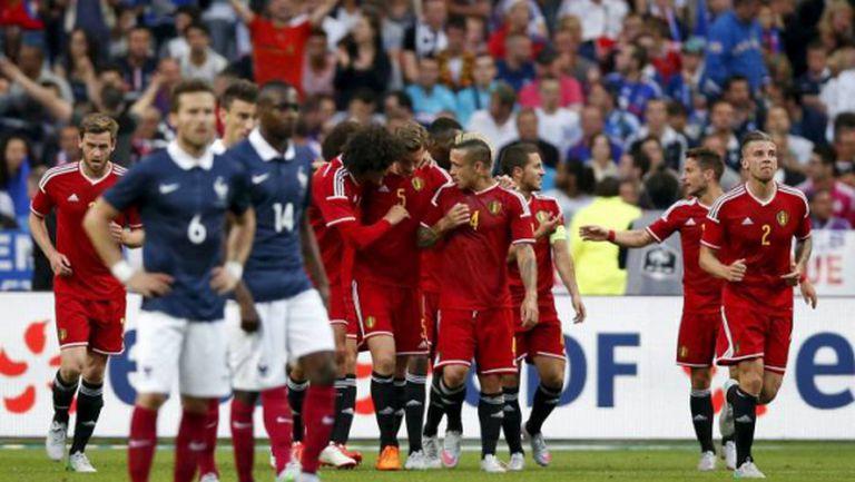 Белгия повали Франция в голово шоу насред Париж