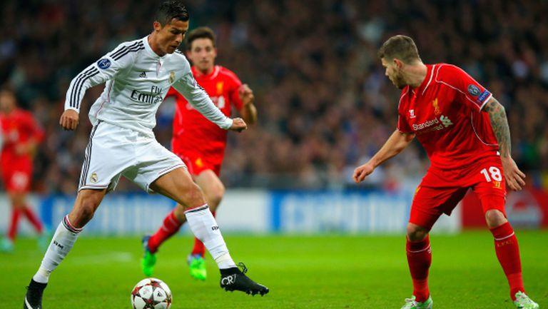 Гол на Роналдо е №1 за сезона в Шампионската лига