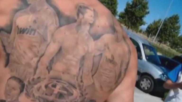 Верен почитател си татуира Кристиано пет пъти на гърба