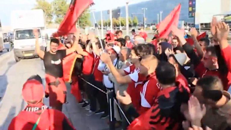 Вижте как посрещнаха Албания в Копенхаген