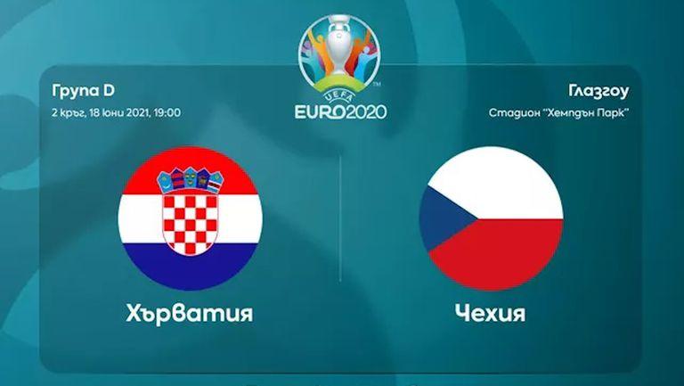 Преди двубоя  Хърватия - Чехия