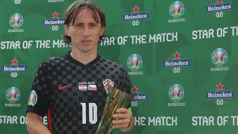 Наградата за Играч на мача отиде при Лука Модрич