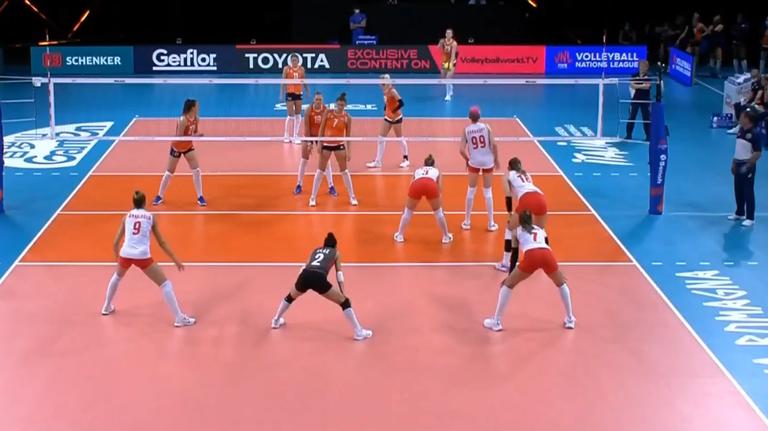 Лига на нациите (жени): Турция - Нидерландия 3:0