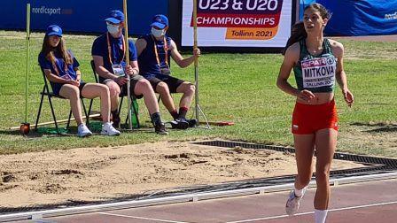 Миткова завърши на 6-о място на скок дължина на Европейското първенство по лека атлетика до 20 години