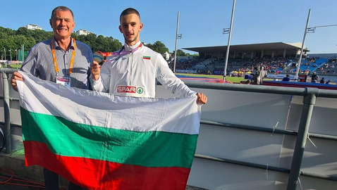 Димитър Ташев донесе първо отличие за България на Европейското първенство по лека атлетика до 20 години