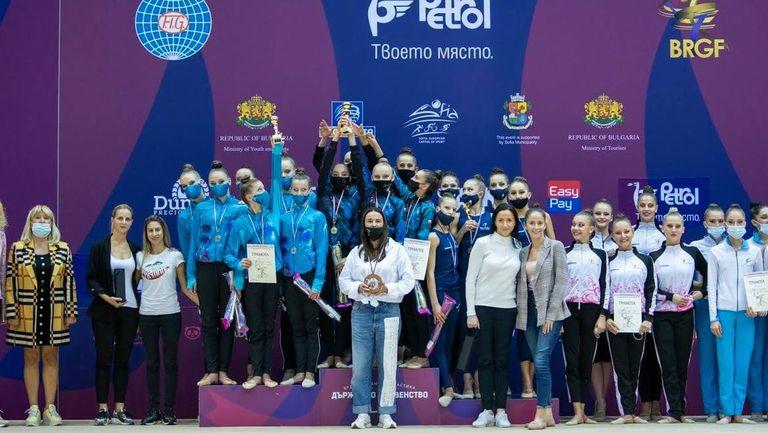 Левски Триадица стана шампион при жените на държавното първенство по художествена гимнастика за ансамбли