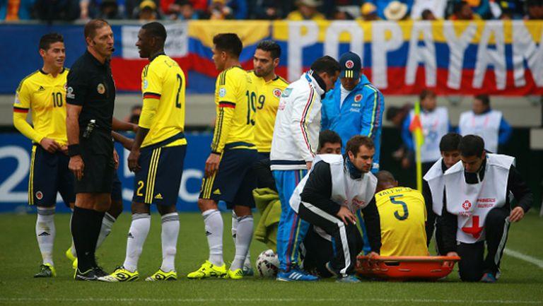Халф на Колумбия с тежка контузия на Копа Америка