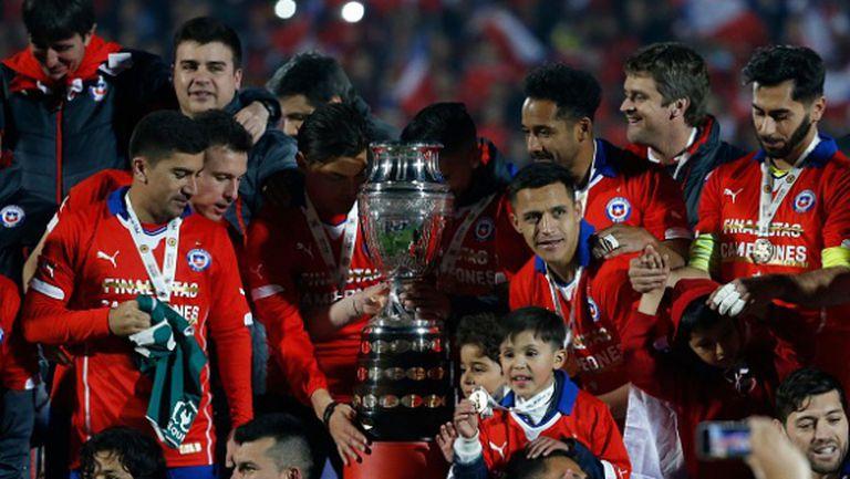 Чили пренаписа историята на Копа Америка, сълзите отново са за Меси и Аржентина! (видео + галерии)