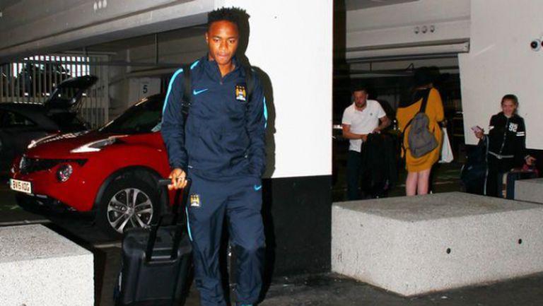 Стърлинг отлетя в ранни зори, дебютира срещу Рома или Реал Мадрид