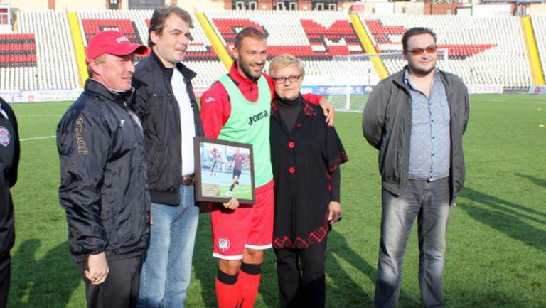 Георги Пеев е най-добрият футболист на Амкар за миналия сезон