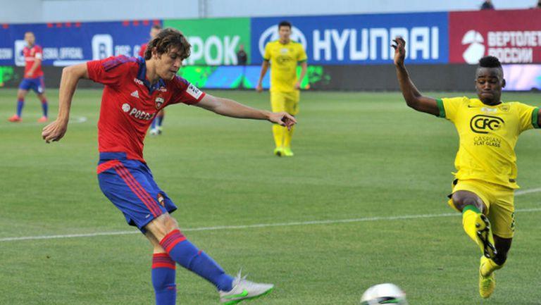 Жоро Миланов резерва при третата поредна победа на ЦСКА (видео)