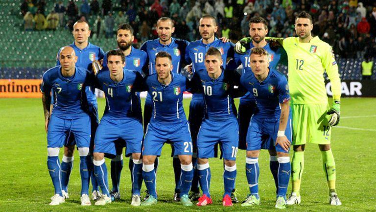 Италия с рекордните девет легионери за мача с България