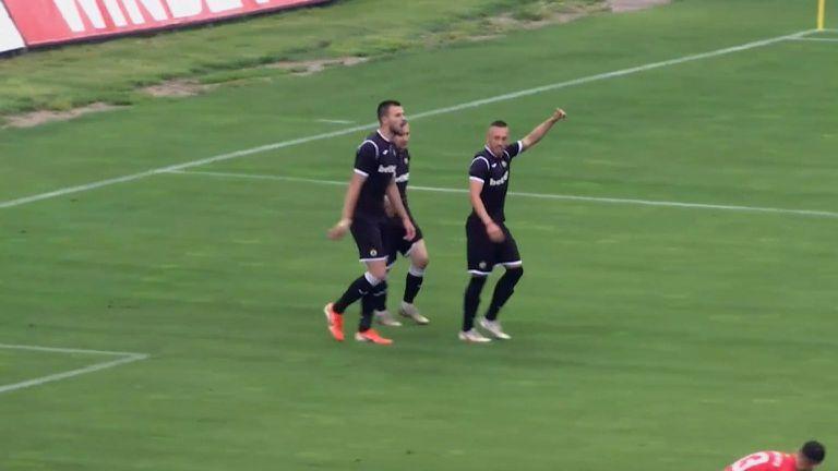 Тони Тасев откри резултата за Славия срещу Марек още в деветата минута