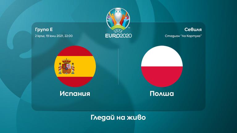 Съставите на Испания и Полша