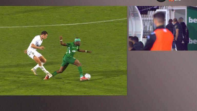 Славия остана с 10 души срещу Лудогорец след червен картон на Димитър Георгиев