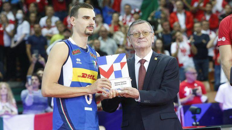 Симоне Джанели MVP на Евроволей 2021
