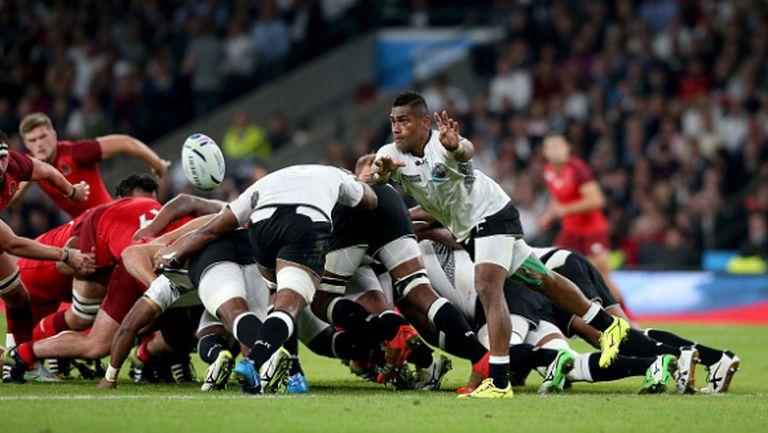 Англия започна с убедителна победа срещу Фиджи на световното по ръгби